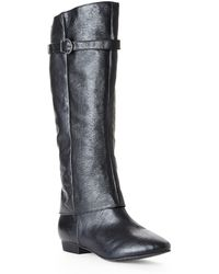 Chinese Laundry Black Set In Stone Boots - Lyst