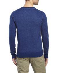 Dstrezzed - Indigo V-Neck Speckled Knit Sweater - Lyst