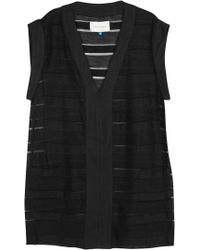 Solid & Striped - Black Striped Knitted Tunic - Lyst
