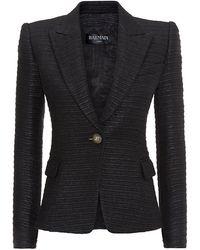Balmain Evening Tweed Jacket - Lyst