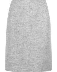 Jil Sander Wool and Angorablend Skirt - Lyst