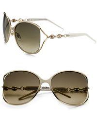 Gucci | Marina Chain 60mm Round Sunglasses | Lyst
