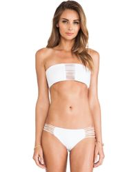 Mikoh Swimwear Sunset Skinny String Bandeau Top - Lyst