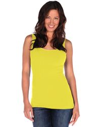 Tees by Tina Smooth Tank In Lemon - Lyst
