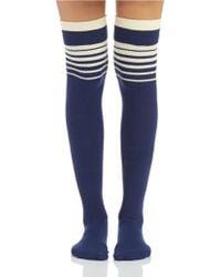 Free People Thigh High Bowler Socks - Lyst