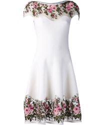 Blumarine Floral Macrame Dress - Lyst
