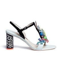 Sophia Webster | 'lilico Underwater 70' Leather Appliqué T-strap Sandals | Lyst