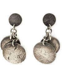 Werkstatt:münchen   Distressed Coin Earrings   Lyst