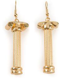 Malibu 1992 - 'Pandora' Small Column Earrings - Lyst