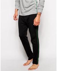 Diesel Jersey Logo Lounge Pants black - Lyst