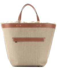 Loro Piana - Fleming Linen and Leather Tote - Lyst