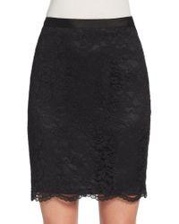Saks Fifth Avenue Black Label - Scalloped-hem Lace Skirt - Lyst