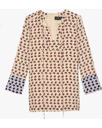 Derek Lam | Crescent Print Tunic Blouse | Lyst