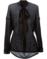Givenchy Pussy Bow Blouse - Lyst