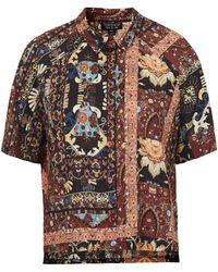 Topshop Womens Marakesh Folk Shirt  Multi - Lyst