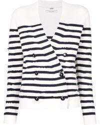 Barrie | Striped Cardigan | Lyst