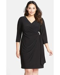 Alex Evenings Body Smoother Faux Wrap Dress - Lyst