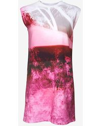 McQ by Alexander McQueen Sleeveless Printed Tee Dress - Lyst
