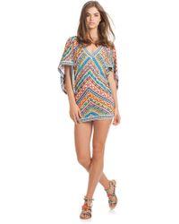 Trina Turk Peruvian Stripe Tunic multicolor - Lyst