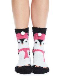 Pj Salvage | 'cozy Plush Penguin' Socks | Lyst