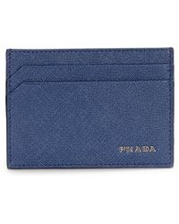 prada leather money clip wallet for men