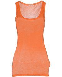 American Vintage Vest orange - Lyst