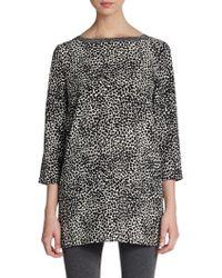 Adrienne Vittadini Leopard Print Tunic - Lyst