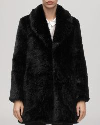 Whistles Coat - Kumiko Faux Fur - Lyst