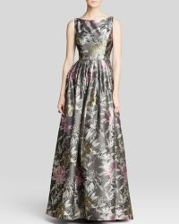 Adrianna Papell Gown - Sleeveless Floral Print Ball - Lyst