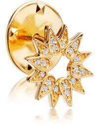 Astley Clarke - Gold-plated Sun Biography Pin - Lyst