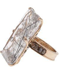 Federica Rettore - Filigree Rectangle Ring - Lyst
