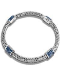John Hardy Classic Chain Four Station Chain Bracelet blue - Lyst