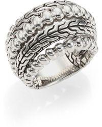John Hardy Bedeg Sterling Silver Dome Ring - Lyst