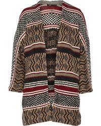 Maje Gozilla Oversized Metallic Jacquard-knit Cardigan - Lyst
