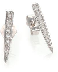 Jacquie Aiche Diamond & 14K Yellow Gold Ice Pick Stud Earrings yellow - Lyst