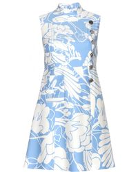 Miu Miu Printed Mini Dress - Lyst