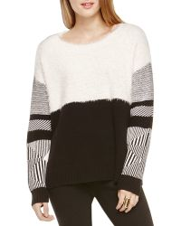 Two By Vince Camuto - Mixed Media Jacquard Jumper - Lyst