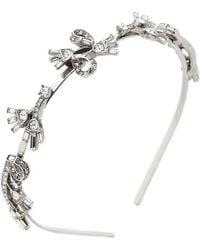 Oscar de la Renta - Floral Baguette Headband - Crystal/silver - Lyst