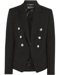 Versace Woolblend Jacquard Blazer - Lyst