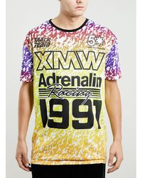 Topman Adrenalin Motocross Tshirt - Lyst