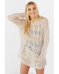 Bdg Cozy Hooded Sweater in White   Lyst