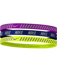 Nike | Girls' Printed Hazard Stripe Headbands – 3 Pack | Lyst
