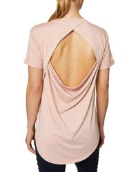 Betsey Johnson - Draped Open Back T-shirt - Lyst