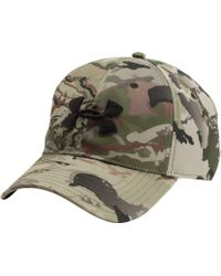 124132680 Lyst - Under Armour Camo Hat in Green for Men