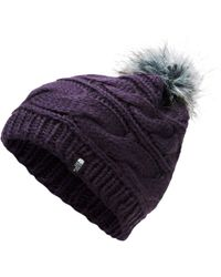 premium selection 99092 724c5 The North Face - Triple Cable Fur Pom Beanie - Lyst