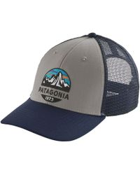 21fdd805c9a Lyst - Patagonia Fitz Roy Label 5-panel Hat in Blue for Men