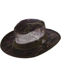 09483d2ff83bd Lyst - Dorfman Pacific Mossy Oak Camo Mesh Crown Safari Hat in Green ...