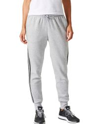 adidas - Essentials Cotton Fleece 3-stripes Jogger Pants - Lyst