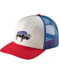 03766925255 Lyst - Patagonia Fitz Roy Bison Layback Trucker Hat for Men