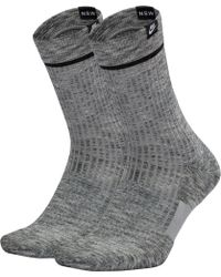 Sneaker Sox Essential Crew Socks 2 Pack Gray